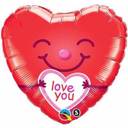 Love You Smiley 18 Foil Balloon