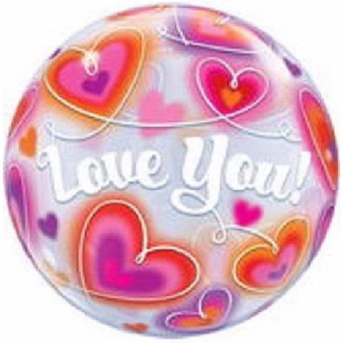 Love You Doodle Herts 22in Bubble Balloon