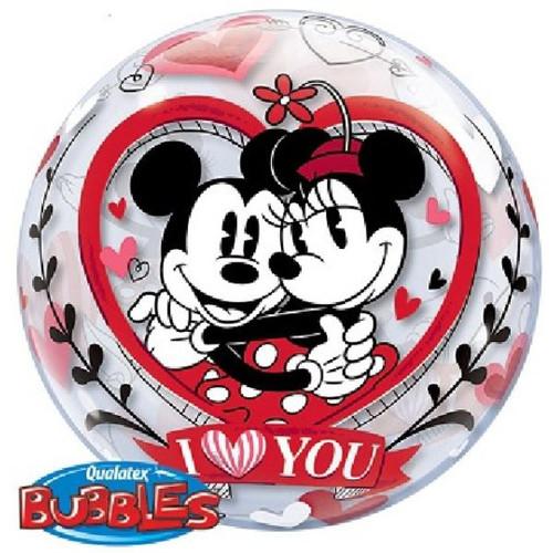 Mickey & Minnie I Love You 22in Bubble Balloon