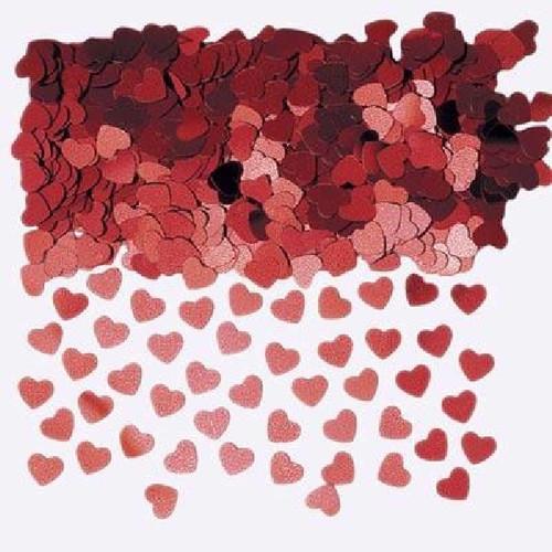 14g Sparkle Heart Red Foil Confetti