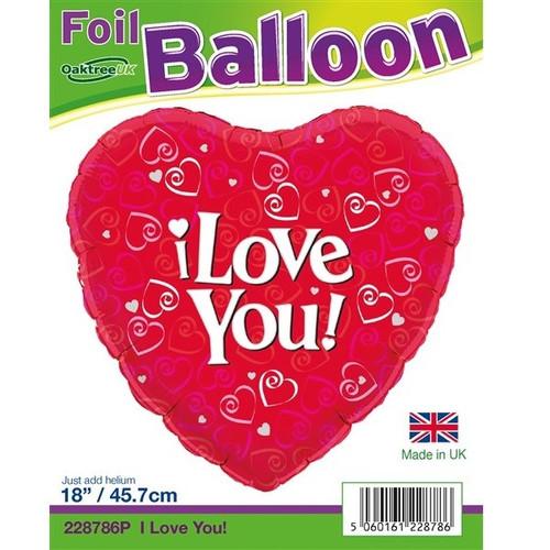 I Love You 18 Foil Balloon