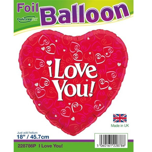 I Love You 18 Foil Balloon