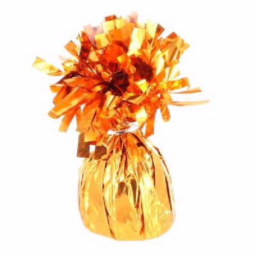 Orange Foil Balloon Weight