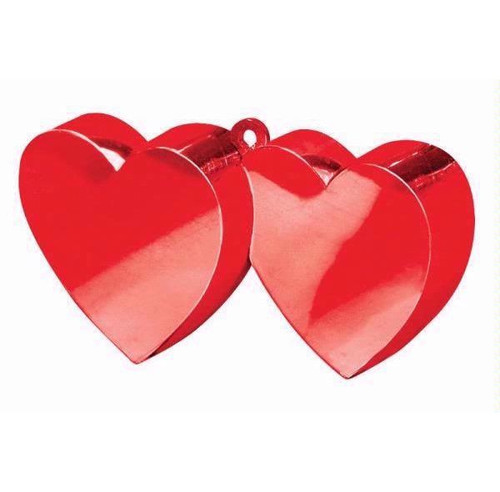 Red Double Heart Balloon Weight