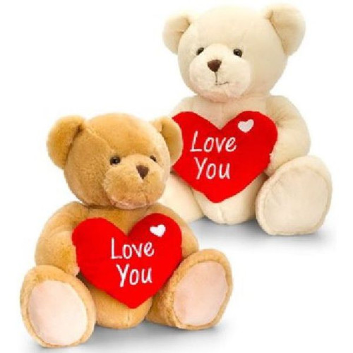 30cm Supersoft Light Bear With Love You Heart