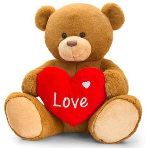 30cm Brown Rufus Bear With Heart