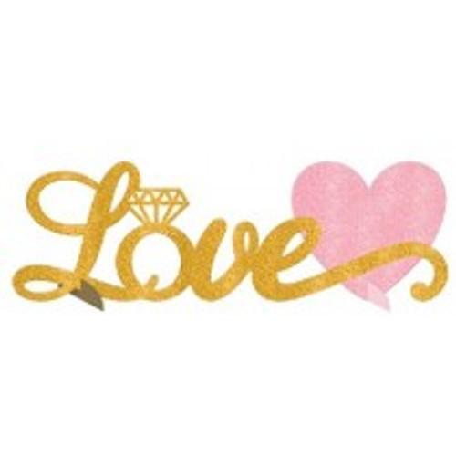 Love Glitter Table Decoration