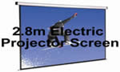 2.8m Electric Projector Screen With Stands Hire