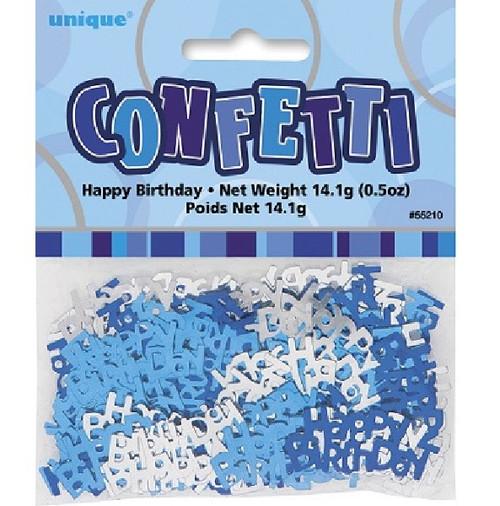 Happy Birthday Blue Glitz Foil Confetti