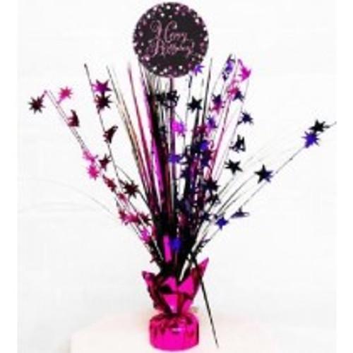 Happy Birthday Pink Sparkles Centerpiece