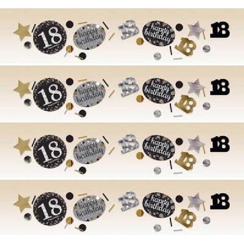 18th Birthday Gold Sparkles Confetti
