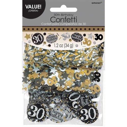 30th Birthday Gold Sparkles Confetti