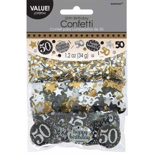 50th Birthday Gold Sparkles Confetti