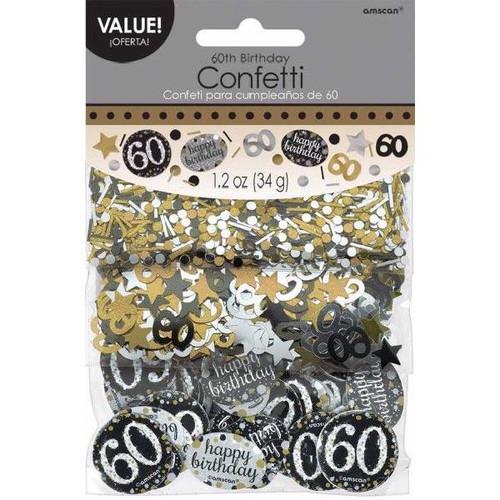 60th Birthday Gold Sparkles Confetti