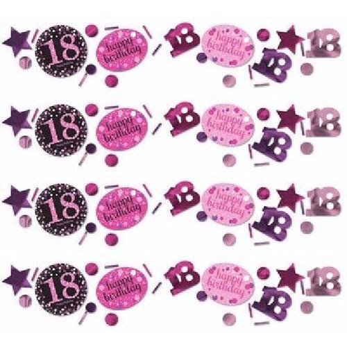 18th Birthday Pink Sparkles Confetti