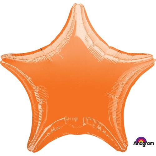 18in Metallic Orange Star Foil