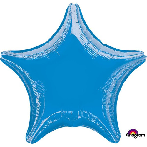 18in Metallic Blue Star Foil