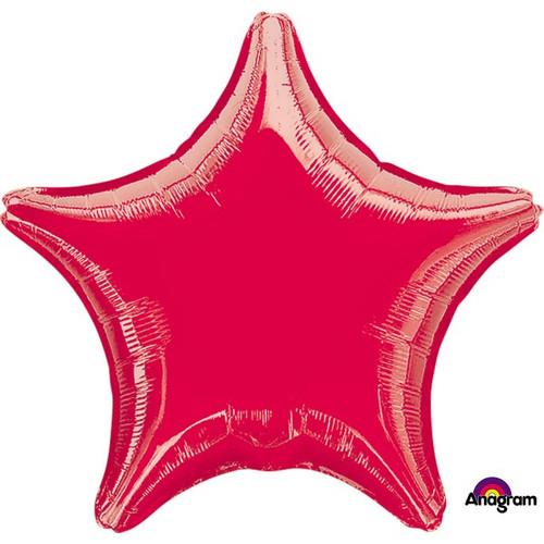 18in Metallic Red Star Foil