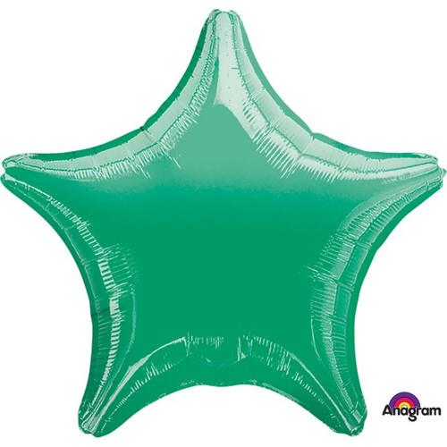18in Metallic Green Star Foil
