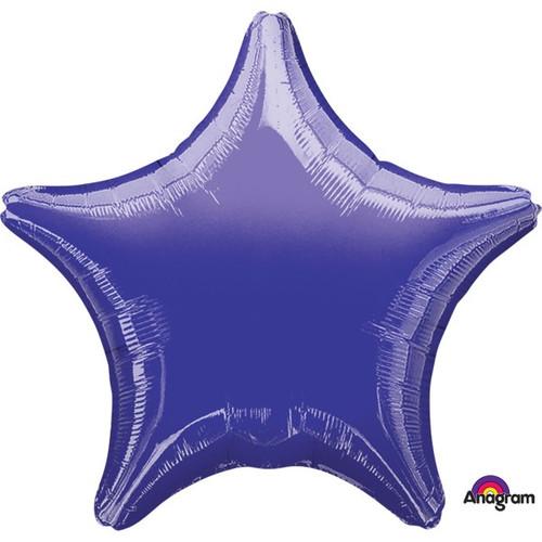 18in Metallic Purple Star Foil