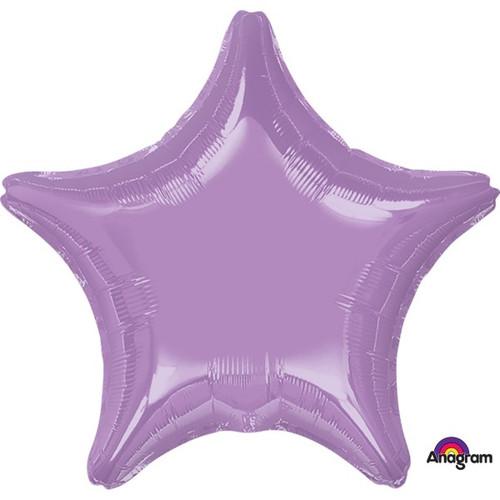 18in Metallic Lavender Star Foil