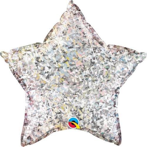 20in Silver Holo Star Foil