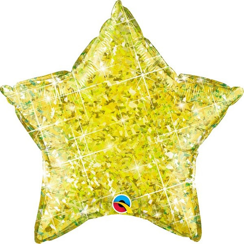 20in Yellow Holo Star Foil