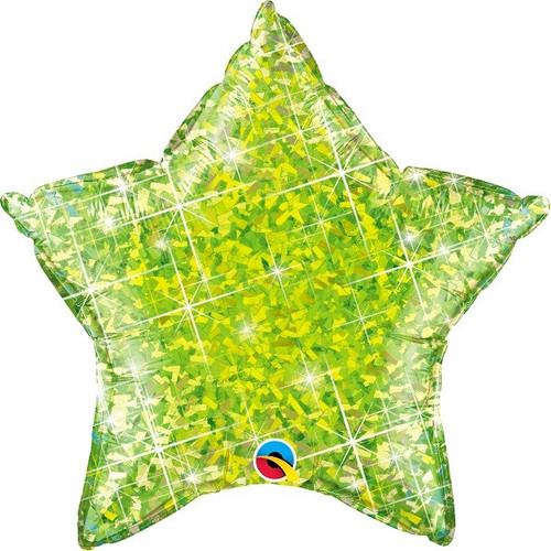 20in Lime Holo Star Foil