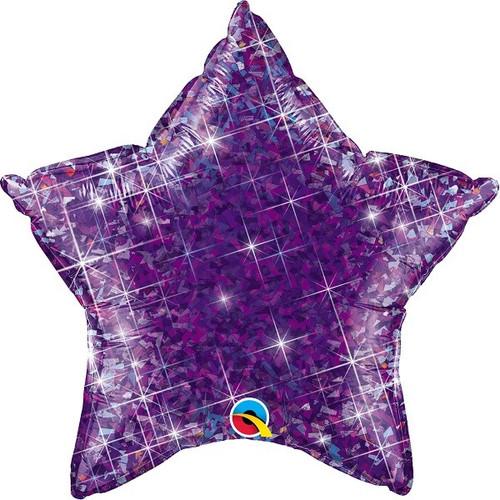 20in Purple Holo Star Foil