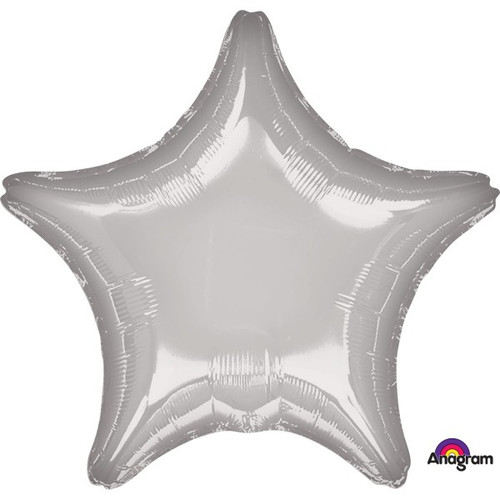 18in Metallic Silver Star Foil