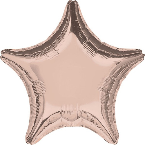 18in Metallic Rose Gold Star Foil