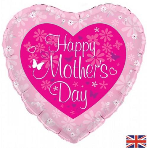 18in Mothers Day Butterfly Heart Foil