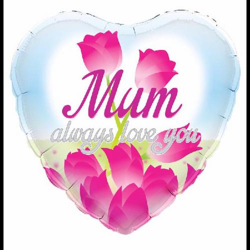 18in Mum Always Love You Heart Foil