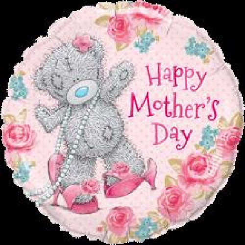 18in Tat Teddy Mothers Day Foil Balloon