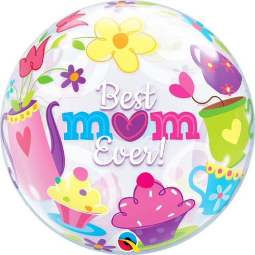 Best Mum Ever 22in Bubble Balloon