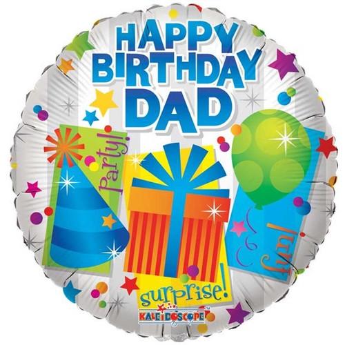 "Happy Birthday Dad Party 18"" Foil Balloon"