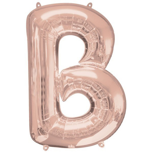 40in Rose Gold Letter B Jumbo Foil Balloon