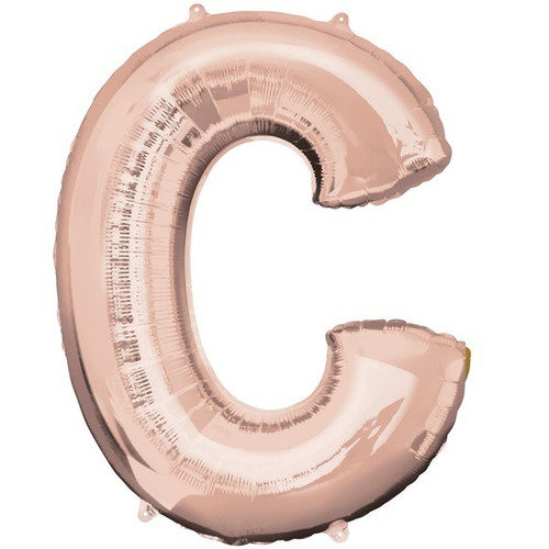 40in Rose Gold Letter C Jumbo Foil Balloon