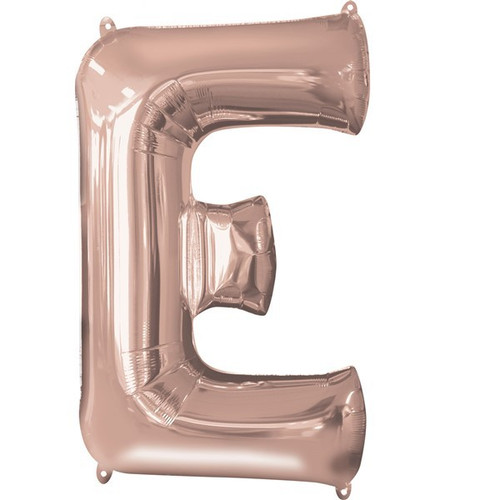 40in Rose Gold Letter E Jumbo Foil Balloon