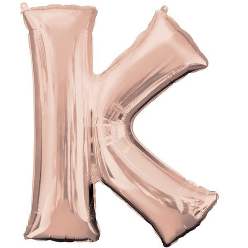 40in Rose Gold Letter K Jumbo Foil Balloon