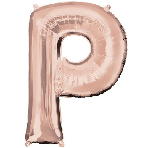40in Rose Gold Letter P Jumbo Foil Balloon