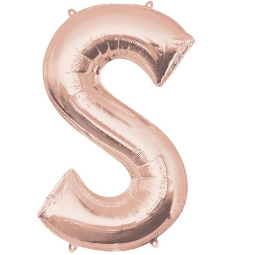 40in Rose Gold Letter S Jumbo Foil Balloon