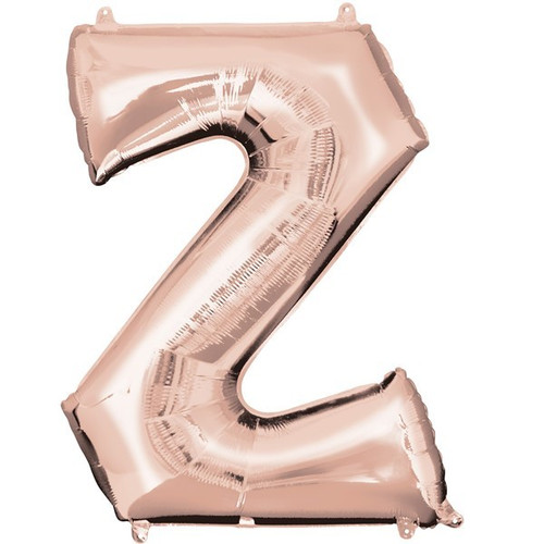 40in Rose Gold Letter Z Jumbo Foil Balloon