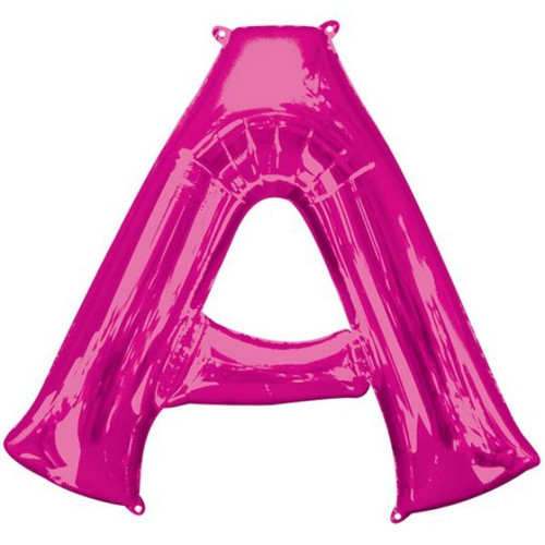 40in Pink Letter A Jumbo Foil Balloon