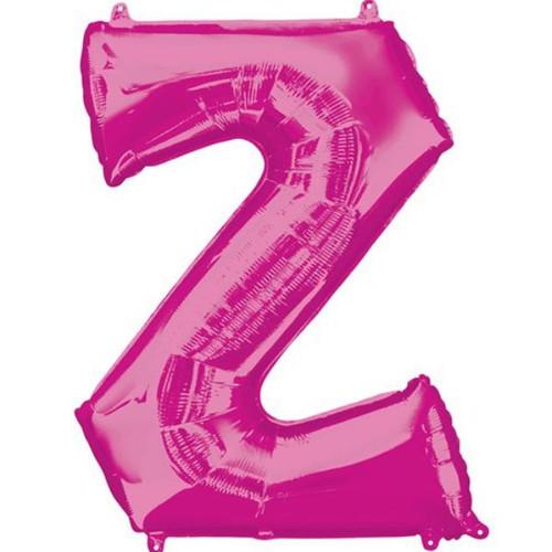 4oin Pink Letter Z Jumbo Foil Balloon