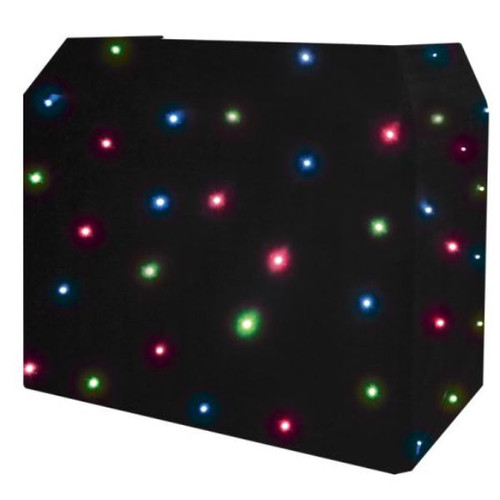 Lightweight DJ Booth with RGB Starcloth Hire