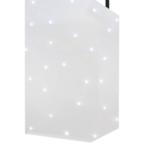 Micron DJ Booth System With White Starcloth Hire