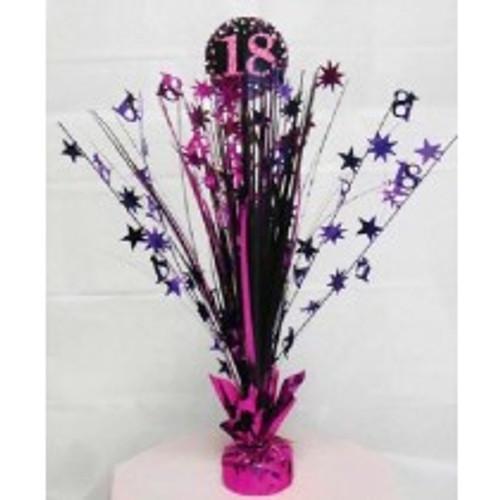 Happy Birthday 18th Pink Sparkles Centerpiece