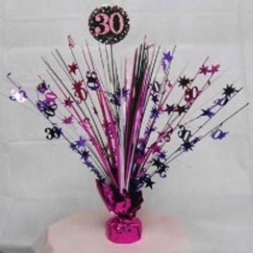 Happy Birthday 30th Pink Sparkles Centerpiece