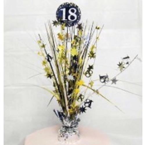 Happy Birthday 18th Gold Sparkles Centerpiece